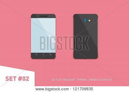 Minimalistic Flat Illustration Of Mobile Phone. Perspective View