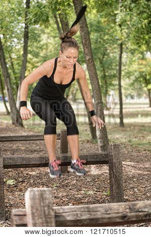 Crossing Wooden Hurdles