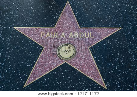 Paula Abdul Hollywood Star