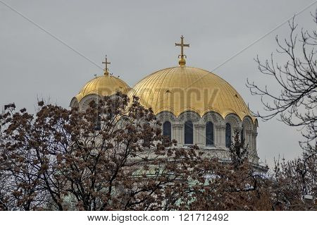 View of Alexander Nevsky Cathedral in Sofia