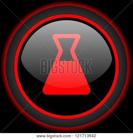 laboratory black and red glossy internet icon on black background
