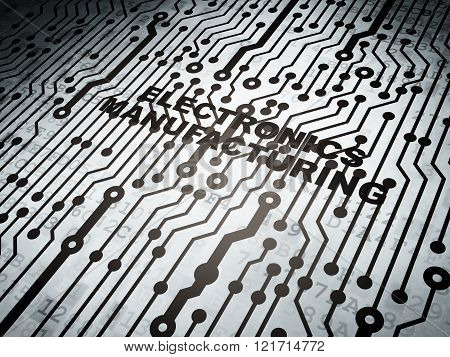 Manufacuring concept: circuit board with Electronics Manufacturing