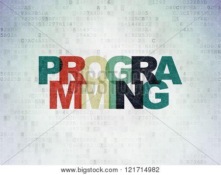 Software concept: Programming on Digital Paper background