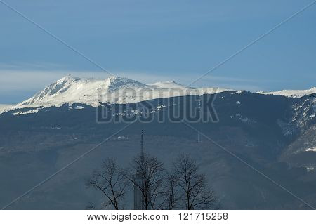 Beauty snowy Vitosha mountain in winter