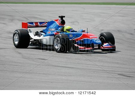 Sepang, MALAYSIA - 21 November: Team Great Britain in action at the World A1 GP championship races held in Malaysia. 21 November 2008 in Sepang International Circuit Malaysia.