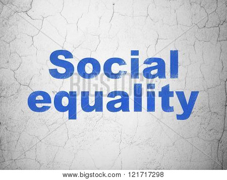 Political concept: Social Equality on wall background