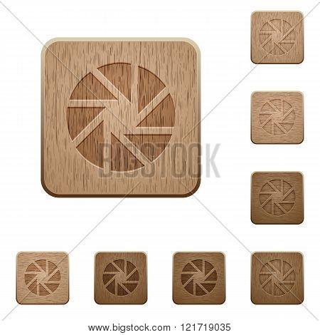 Aperture Wooden Buttons