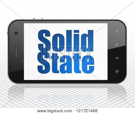 Science concept: Smartphone with Solid State on display