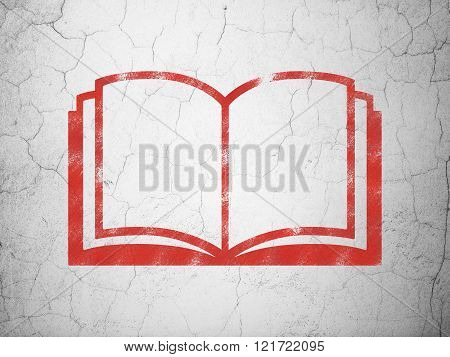 Science concept: Book on wall background