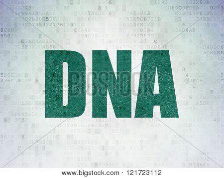 Healthcare concept: DNA on Digital Paper background