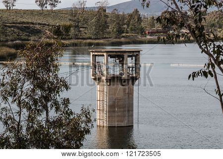 Intake Tower for Lower Otay Reservoir in Chula Vista, California