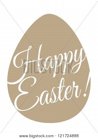 Happy Easter postcard. Flat minimal vector illustration. Print or web. Stencil. Packing