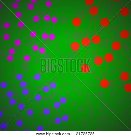 Abstract polygonal background. Futuristic style card
