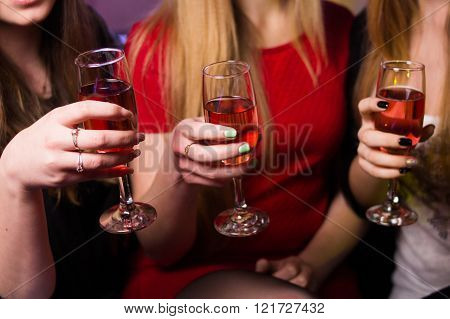 Glass Of Wine In Hands
