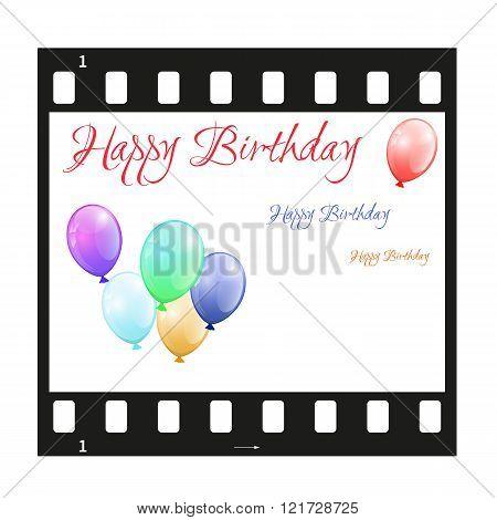 Birthday Card With Filmstrip
