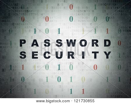 Privacy concept: Password Security on Digital Paper background