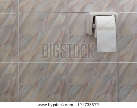 Toilet paper roll on wall, Coppy