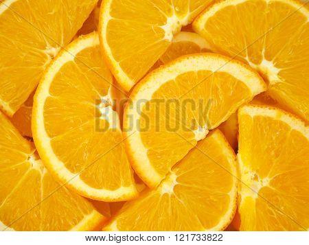 Orange slices as background texture
