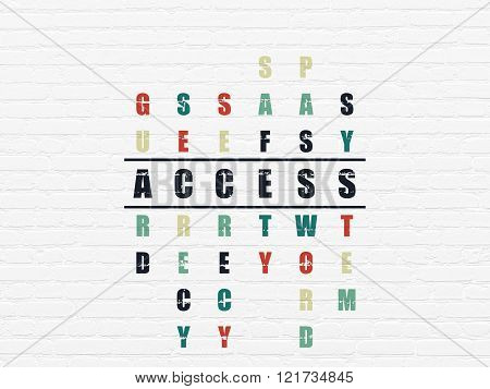 Privacy concept: Access in Crossword Puzzle