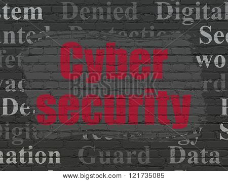 Privacy concept: Cyber Security on wall background