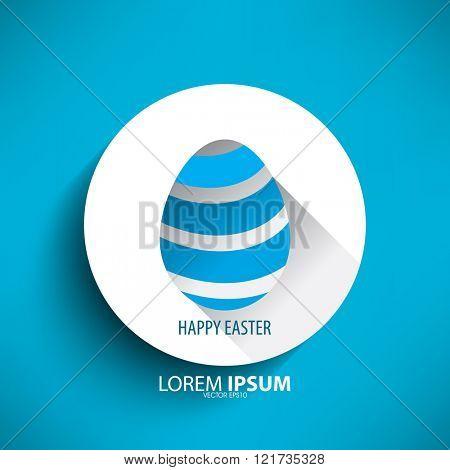 easter egg isolated blue lines design