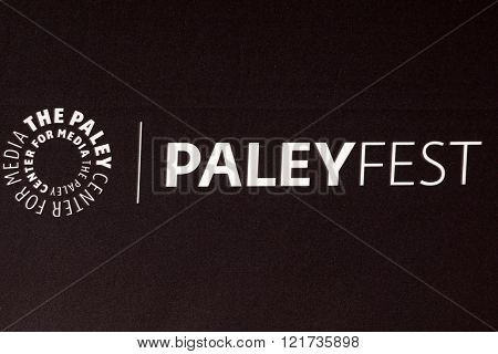 LOS ANGELES - MAR 13:  PaleyFest Emblem at the PaleyFest Los Angeles - Supergirl at the Dolby Theater on March 13, 2016 in Los Angeles, CA