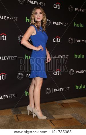 LOS ANGELES - MAR 13:  Leanne Aguilera at the PaleyFest Los Angeles - Supergirl at the Dolby Theater on March 13, 2016 in Los Angeles, CA