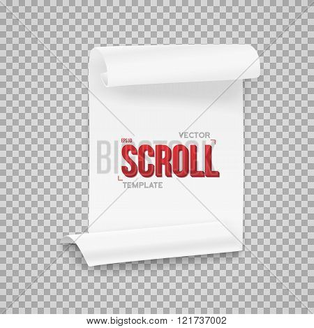 Vector Folded White Paper Sheet Template. Realistic Vector EPS10