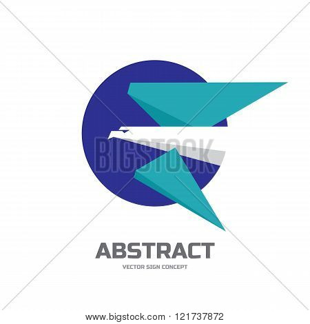 Eagle bird - vector logo concept illustration in flat style design for business company.
