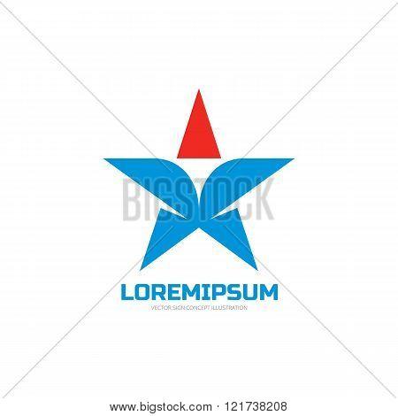 Star - vector logo concept illustration. Star sign. Star symbol. Star icon. Vector logo template.