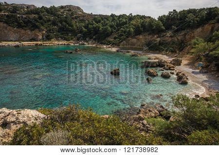 Scenic Landscape At Anthony Quinn Beach, Rodos