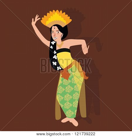 bali balinese dancer traditional indonesia dance kecak culture costume asian woman girl
