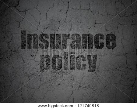 Insurance concept: Insurance Policy on grunge wall background