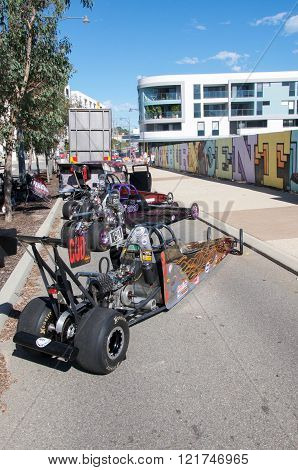COCKBURN CENTRAL,WA,AUSTRALIA-MARCH 13,2016: Go Karts on display at the Cockburn Central Billy Cart Festival in Cockburn Central, Western Australia.