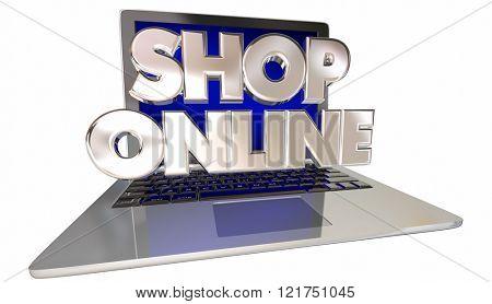 Shop Online Website eCommerce Store Buy Internet Computer Laptop