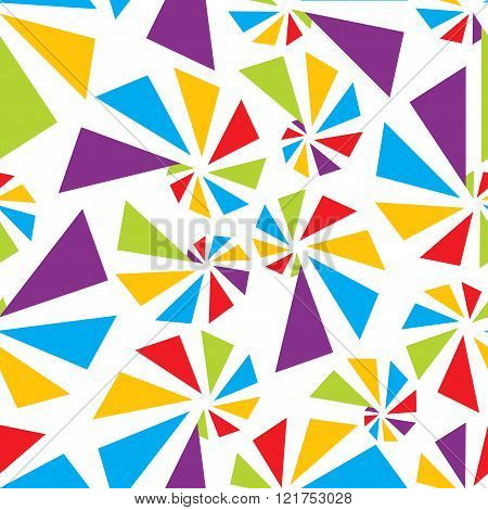 Triangular torsion seamless pattern