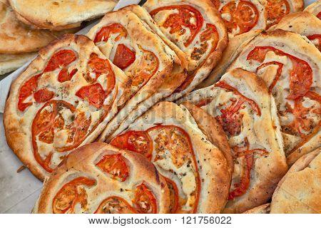 Italian Focaccia With Tomato