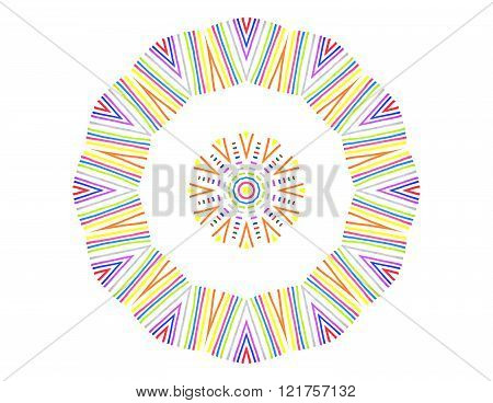 Abstract Color Lines Concentric Pattern