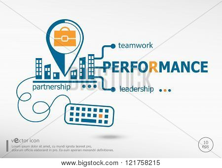 Performance And Marketing Concept.