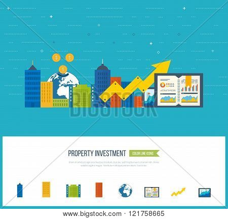 Concepts for business analysis, financial report and strategy.  Property investment