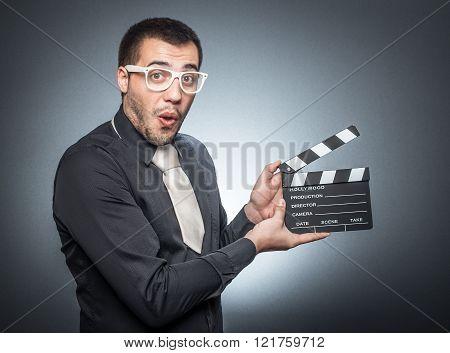 Man With Movir Clapper Board