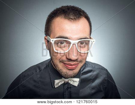 Close Up Of Funny Elegant Man
