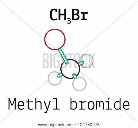 CH3Br methyl bromide molecule