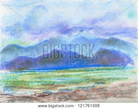Sea and mountains