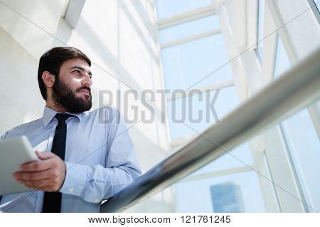 Inspired businessman