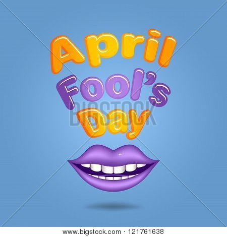 April Fool's Day. Violet  Lips