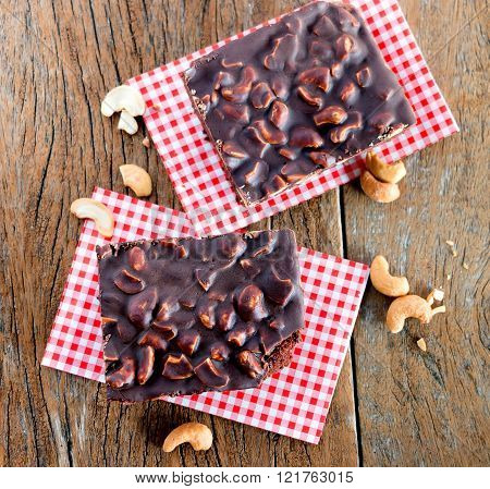 Cashew Nuts Brownie On Table