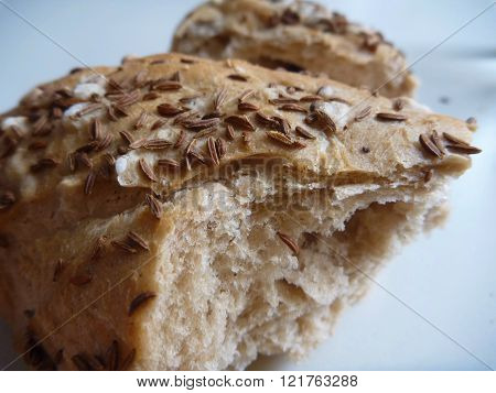 Detail Of Piece Of Fresh Bread