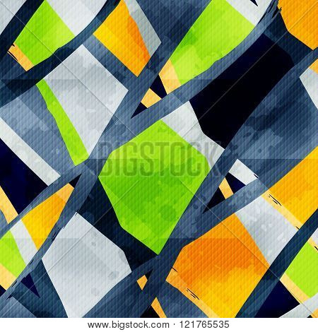 Beautiful Colored Lines Graffiti On A Black Background Vector Illustration