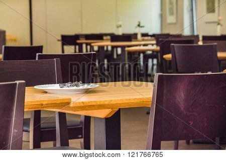 Tables, Chairs In A Restaurant